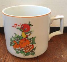 Florida Orange Bird Citrus Commission Walt Disney Porcelain Mug Vintage Japan | eBay