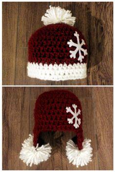 RED CHRISTMAS BABY CROCHET HAT