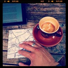 coffee and a map to plan your day