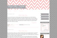 Cute Premade Blogger Blog Template Pink Chevron Blog Design | Installation and Social Icons Included | $50.00 www.blogaholicdesigns.com