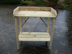 wooden handcrafted potting table,bench,garden,greenhouse,staging,quality. in Garden & Patio, Garden Structures & Shade, Greenhouses & Cold Frames | eBay!