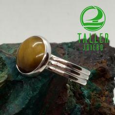 Anillo de plata con piedra ojo de tigre A0-404 #hechoamano #plata - Taller Joyero confección y diseño de joyas, Joyería online.