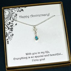 Wedding Anniversary Gift by StarringYouJewelry  #anniversarygifts #anniversaryideas