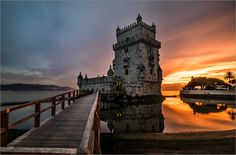 """Picture of the Day: """"Sunset at Belem Tower"""""""