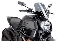 Puig Naked Touring Windscreen - Dark Smoke Ducati Diavel Diavel Carbon Etc Ducati Diavel, Ktm 125 Duke, Moto Ducati, Ktm 690, Spring Street Style, Street Style Women, Street Styles, Piece Cafe Racer, Ducati Monster 821
