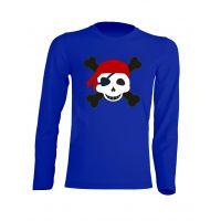 Camiseta Manga Larga Pirata niño Azul Royal