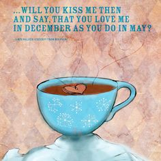 December 1st, just thirty-one days left to kiss and tell in 2012. Kiss and tell about the coffee that you love, for love of Christmas, for the love of loving. What my #Coffee says to me December 1st, will you kiss me then and say....