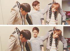 Minhyuk, Peniel, and Eunkwang of BTOB