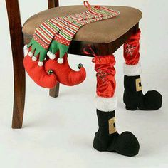me ~ Product Details Christmas Chair Leg Covers Christmas Room, Christmas Sewing, Christmas Fabric, Noel Christmas, Christmas Items, Christmas Projects, All Things Christmas, Christmas Stockings, Christmas Kitchen