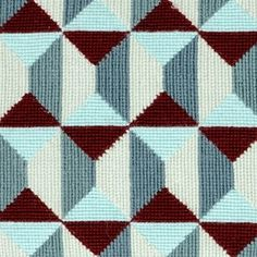 Bredholm Broderi Pude Needlepoint Patterns, Needlepoint Canvases, Geometric Pattern Design, Bargello, Cross Stitch Flowers, Plastic Canvas Patterns, Crochet Stitches, Cross Stitch Embroidery, Pixel Art