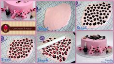 How to create Leopard Effect   http://www.concorazondeazucar.com/2013/01/tarta-maquillaje-y-tutorial-efecto.html