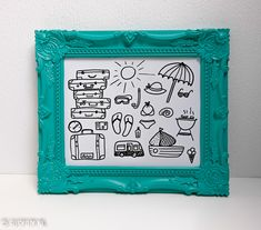 Vakantie   Letters & Doodles - SUSY DIY Doodles, Letters, Education, Mini, Frame, Decor, Style, Picture Frame, Swag