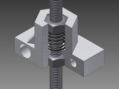 added version with 10mm extra height for use with taller springs BOM: 1X Backlash eliminator 2X M8x1.25 Nut 1X Spring Min. ID 8mm Max. OD 13mm 2X M5x0.8 Bolt (Original Znut holder bolts) assemble like picture optimized for slic3r hole error