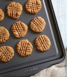These yummy Almond Butter Cookies from Skinnytaste can be made with any nut butter (plus some sugar and an egg).