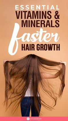 14 Essential Vitamins And Minerals For Faster Hair Growth: When it comes to hair, the three most important nutrients are proteins, vitamins, and minerals. Their intake in proper proportions will ensure fast and healthy hair growth. The right diet is o Healthy Hair Tips, Healthy Hair Growth, Hair Growth Tips, Natural Hair Growth, Hair Growth For Men, Grow Long Hair, Grow Hair, Long Voluminous Hair, Hair Grower