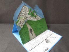 Sanne Kreativ: Easel-Card mit Alpenpanorama