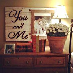 Custom Barnwood Frames - Sign - You And Me w/ 8x10 Frame, $39.00 (http://www.custombarnwoodframing.com/sign-you-and-me-w-8x10-frame/)