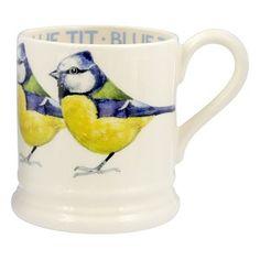 ½ pt Mug Blue tit - Nieuw! - Pine-apple - Importeur Emma Bridgewater