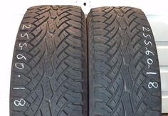 USED 2 x 255-60-R18 / 112T  M+S CONTINENTAL CROSSCONTACT AT . 2556018  255 60 18
