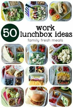 Over 50 Healthy Work Lunchbox Ideas 2019 50 healthy lunch box ideas for Plan ahead to stick to your goals! The post Over 50 Healthy Work Lunchbox Ideas 2019 appeared first on Lunch Diy. Healthy Lunches For Work, Healthy Snacks, Healthy Eating, Healthy Recipes, Clean Eating, Work Lunches, School Lunches, Teacher Lunches, Bag Lunches