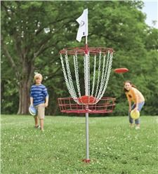 Big Backyard Playsets - Disc Golf Set. Now you can set up your own Frisbee golf in your back yard. Fun for the entire family.