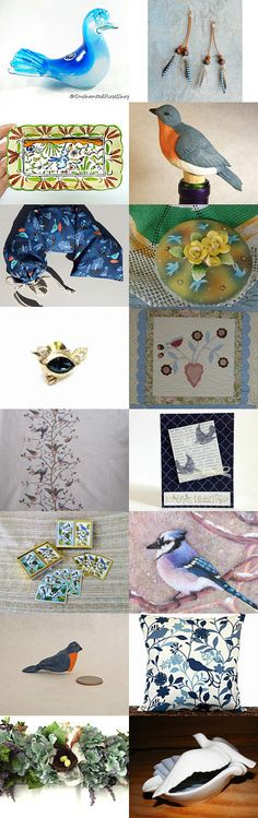 Where Blue Birds Fly! .. or sit  :-) by Nancy on Etsy--Pinned+with+TreasuryPin.com