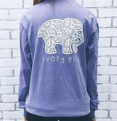 1896fd9fa27a66 Ivory Ella Elephant Galaxy Long Sleeve Tee. Paisley PrintLight Purple ShirtPurple  ShirtsElephant ...