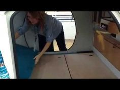 Gidget teardrop camper takes sliding approach to extra space Pod Camper, Tiny Camper, Small Campers, Camper Trailers, Gidget Retro Teardrop Camper, Teardrop Trailer, Teardrop Campers, Motorcycle Camper Trailer, Cars