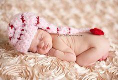 Crocheted Valentine Hat  Newborn   Great Photo Prop by lilianda, $20.99