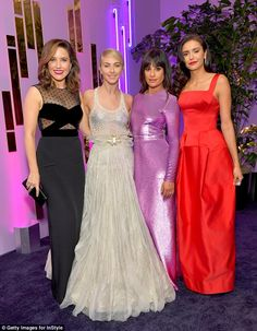 Wow things: Actresses Sophia Bush, Julianne, Lea, and Nina Dobrev looked sartorially stunning in their various get-ups