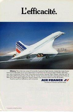 1980 colour Air France Concorde advert - USA