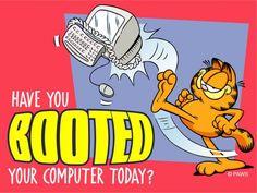GARFIELD AND COMPUTER