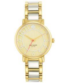 kate spade new york Women's Gramercy Two-Tone Bracelet Watch 34mm 1YRU0391
