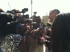 The media came out in force as we announced the Urban League-Tyson Foods Hunger Project Mississippi in Jackson.