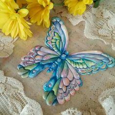 Teri Pringle Wood: Watercolored butterfly. ♡