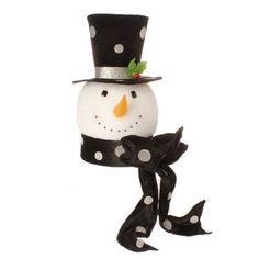 RAZ Snowman in Top Hat Tree Topper Christmas Decoration Christmas Arts And Crafts, Merry Christmas To All, Black Christmas, Christmas Colors, Christmas Themes, Christmas Decorations, Christmas Collage, Christmas Wishes, Holiday Ideas