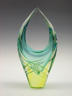 Murano sommerso glass vase