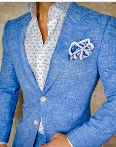 Casual Suit, Men Casual, Wedding Suits, Wedding Groom, Wedding Men, Designer Suits For Men, Men's Suits, Blue Suits, Herren Outfit