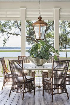 Details to Notice: 2019 Southern Living Idea House - Emily A. Clark A tour of the 2019 Southern Living Idea House and the details worth noticing. Southern Homes, Outdoor Dining, House With Porch, Southern Living, Southern Living Homes, House, Home Decor, Riverside House, Outdoor Living