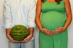 "This makes me think of Dirty Dancing ""I carried a watermelon"" #Maternity Photography"