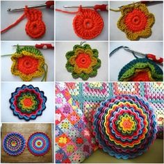 Wonderful DIY Crochet Flower Cushion