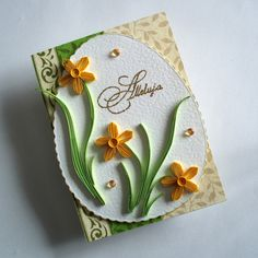 Quilled Easter Card - by: Katarzyna Piepr https://plus.google.com/photos/106392586168845661782/albums/5315376273471722929?banner=pwa