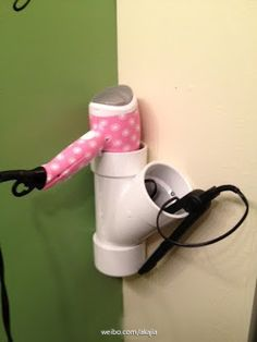 need this blow dryer organizer in my bathroom!
