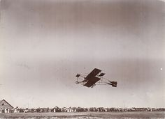 Eugene B. Ely Piloting The First Aircraft Flight In Lethbridge  July 14, 1911
