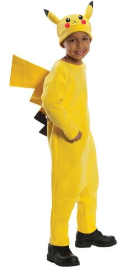 Imagine the fun your child will have dressed in this Pokemon Pikachu Child's Halloween Costume. This cozy costume is crafted in bright yellow to be easy to see and includes a cute hat with Pikachu face and a jumpsuit with attached tail. Pikachu Halloween Costume, Boy Costumes, Halloween Fancy Dress, Halloween Kostüm, Halloween Costumes For Kids, Party Costumes, Homemade Halloween, Halloween Cosplay, Children Costumes