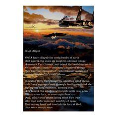 Shop Poster created by DAEVEGAS. High Flight, Veterans Day Gifts, American Veterans, Corner Designs, Custom Posters, Custom Framing, Wall Art, Artwork, Prints