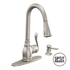 I simplified my faucet. I love the pull down spray feature.Moen�Anabelle Spot Resist Stainless 1-Handle Pull-Down Kitchen Faucet