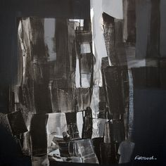 Black Painting White Painting Abstract Painting Modern by Artoosh