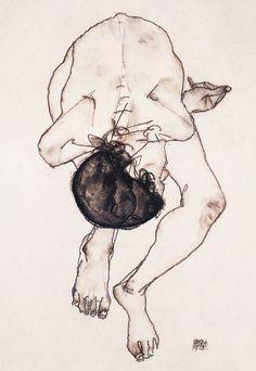 Egon Schiele  Akt (Nude) c.1913