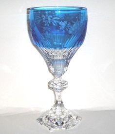 Varga Versailles Sky Blue Water Goblet